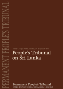 Book Cover: Dublin verdict: Sri Lanka guilty of War Crimes