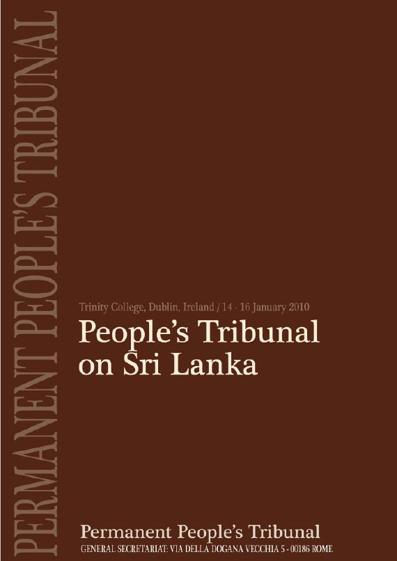 Book Cover: Dublin verdict: Sri Lanka guilty of War Crimes